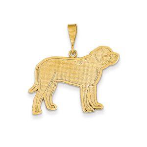 THE BLACK BOW English Mastiff 14k Gold Pendant #BullyDogNation