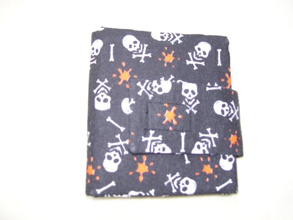 Unisex Trifold Fabric Pocket Wallet  Skull and by SpiritPenny, $18.00  I'm having a sale. Was $22, now only $18 Great Mother's Day gift idea.