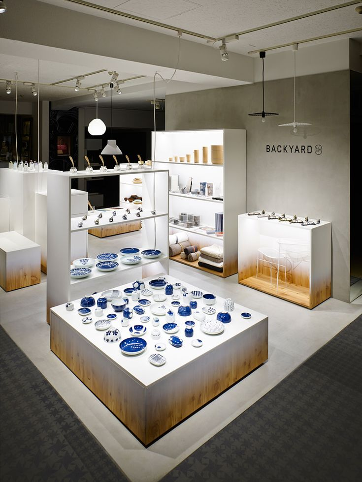 backyard by n for seibu sogo department stores in japan. Love the spray painted look of the casework.