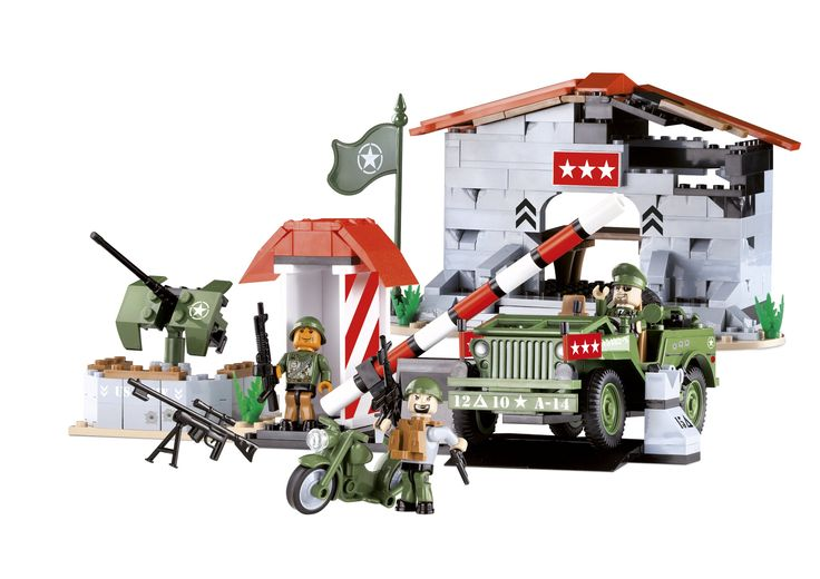 COBI Small Army Willys Military B in Headquarters Construction Vehicle