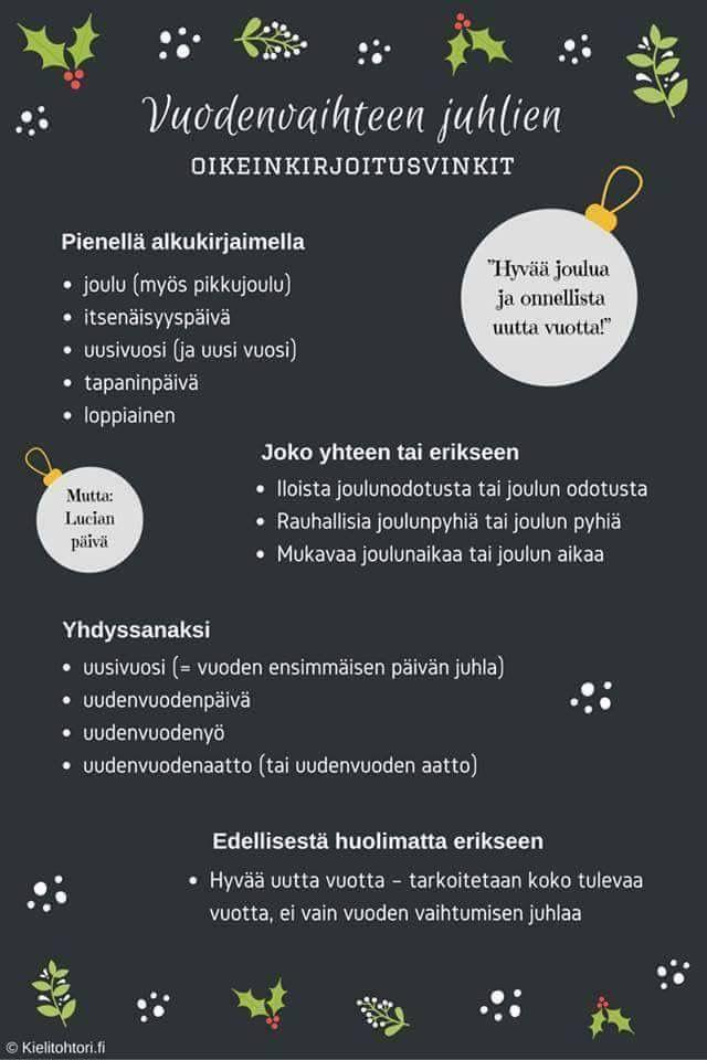 Kielitohtori.fi joulunajan oikeinkirjoitusvinkit!