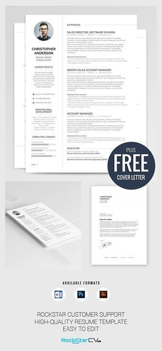Resume Template Synnove Anything Job Hunting Related Pinterest