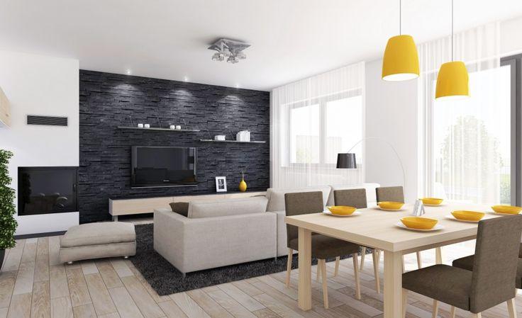 Spojenie jedálne s obývačkou je moderné, a aj práve preto je naša rodinná zástavba dispozične riešenia v tomto smere.