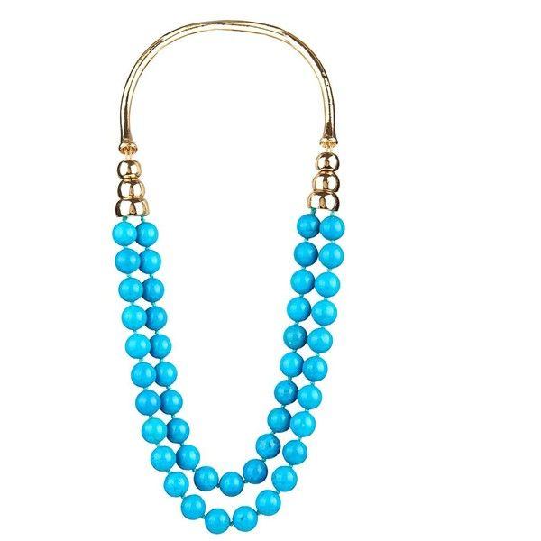 AURLIE BIDERMANN Lakotas necklace (5.690 BRL) ❤ liked on Polyvore featuring jewelry, necklaces, kaulakorut, blue, aurelie bidermann necklace, handcrafted necklaces, aurélie bidermann, turquoise stone necklace and blue jewelry