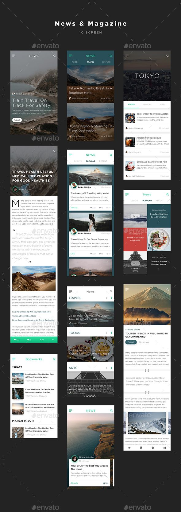 Mugen App UI KIT – News & Magazine (User Interfaces)