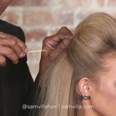HAIR PINS 101  First up, the long hair grip!  Push ▶️