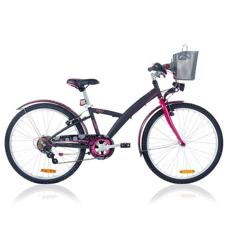 VELO Velos Vélos, cyclisme - Vélo enfant VTC 24 pouces Nature B'TWIN - Vélos