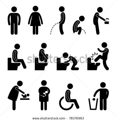 28 Best Images About Male And Female Bathroom Signs On Pinterest Toilets Black Backgrounds