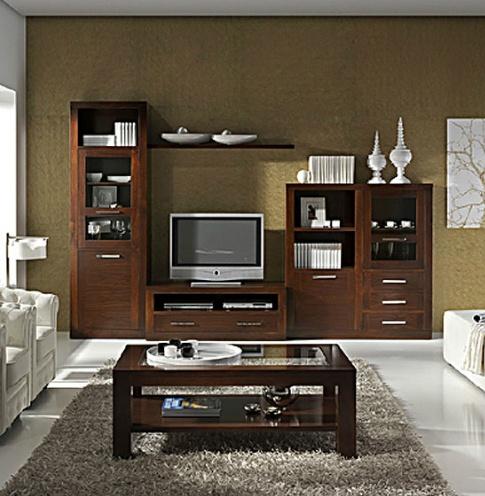 17 best images about muebles de salon comedor en madera de nogal ...