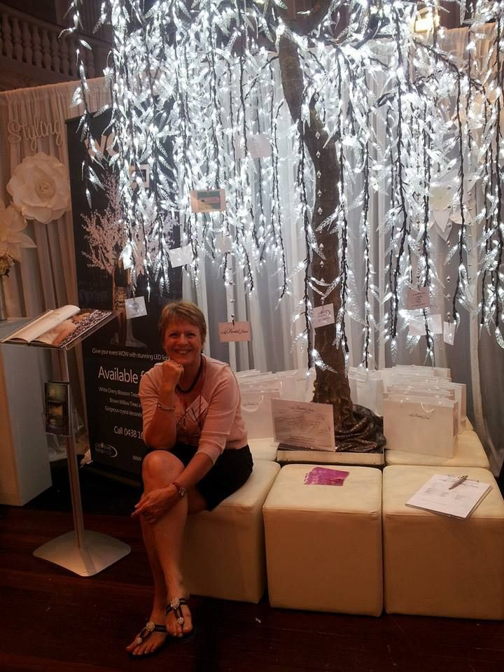 The illuminated trees sparked at a lot of interest at the 2014 Ideal Bride Expo! http://www.mybridalcentre.com.au/service-providers/show-stoppers/