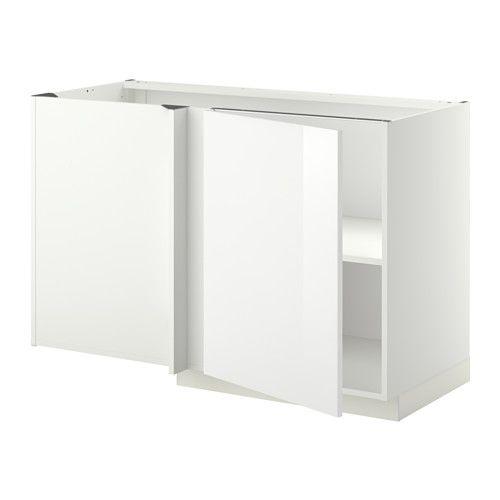 Ikea Hochstuhl Gulliver Preis ~   Eckunterschrank mit Boden  weiß, Ringhult Hochglanz weiß  IKEA
