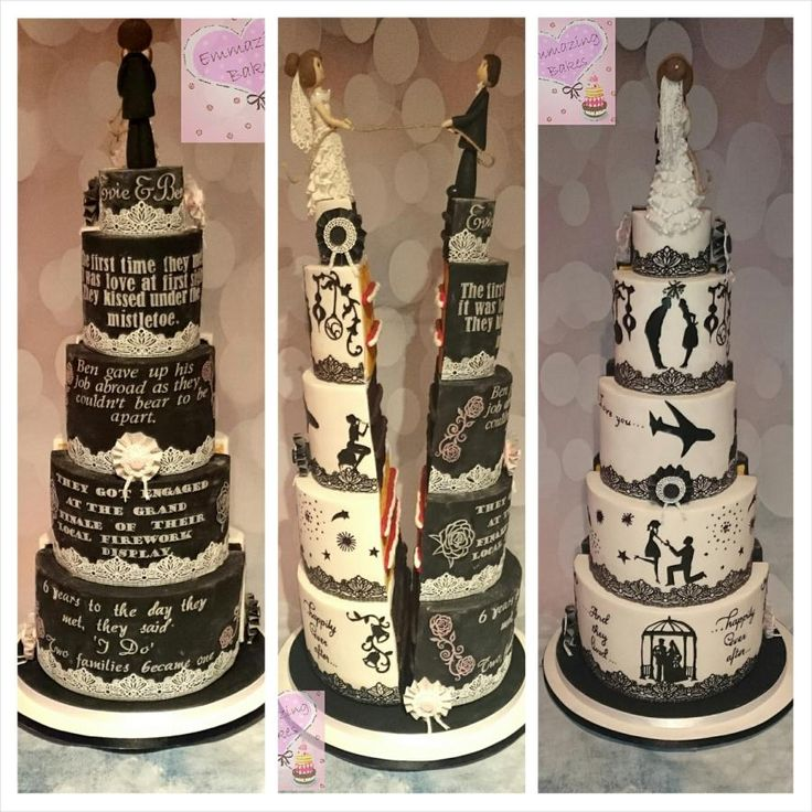 Half and half wedding cake.Cake international entry - Cake by Emmazing Bakes