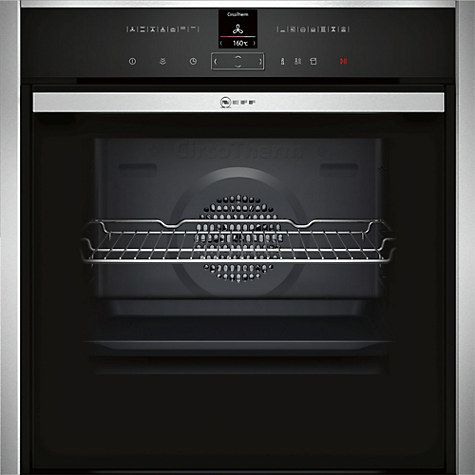 Buy Neff B47VR32N0B Slide and Hide VarioSteam® Single Electric Oven, Stainless Steel Online at johnlewis.com