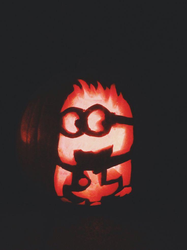 pumpkin caring idea despicable me minion halloween decorating cute