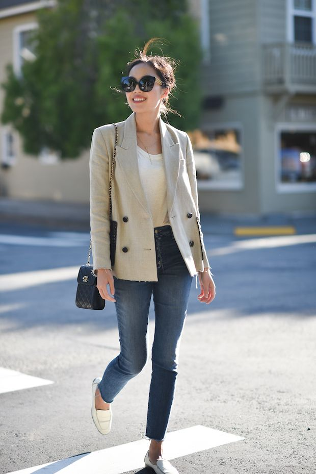 Cool blazer on @9to5chic