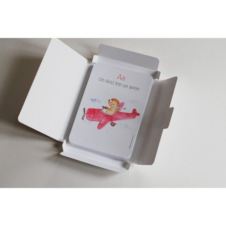 Carduri educationale Alfabetul vesel - Hippo Atelier