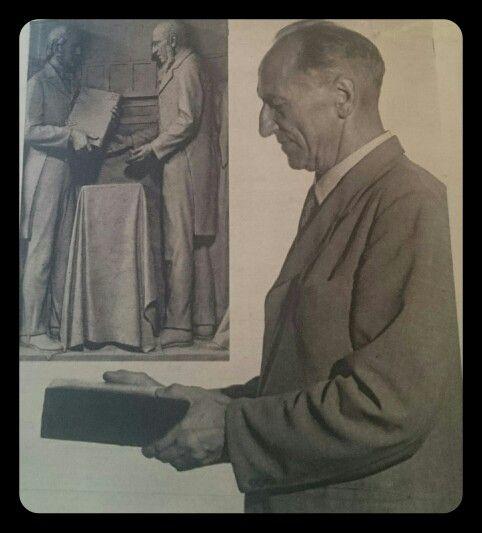 Mnr Louis van Bergen as model vir Uys