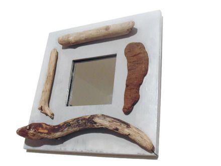 miroir bois flott cadre tableau d coration murale. Black Bedroom Furniture Sets. Home Design Ideas