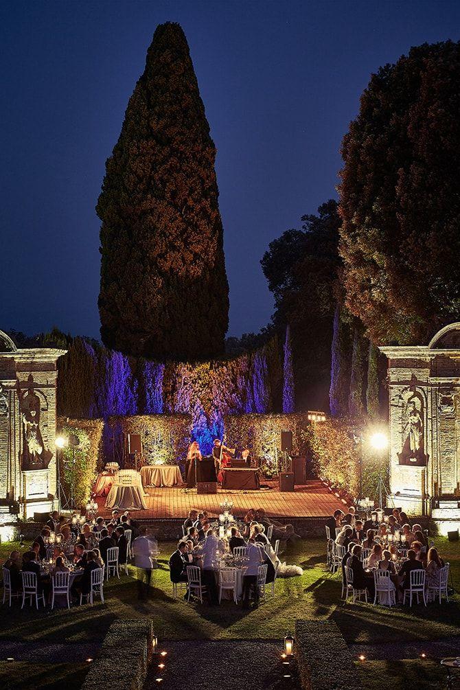 ALMA PROJECT 24/7 - Al Fresco Wedding in the evening   Beautiful Al Fresco Wedding in Tuscany   Jules Bower Photography - Lighting Alma Project 24/7