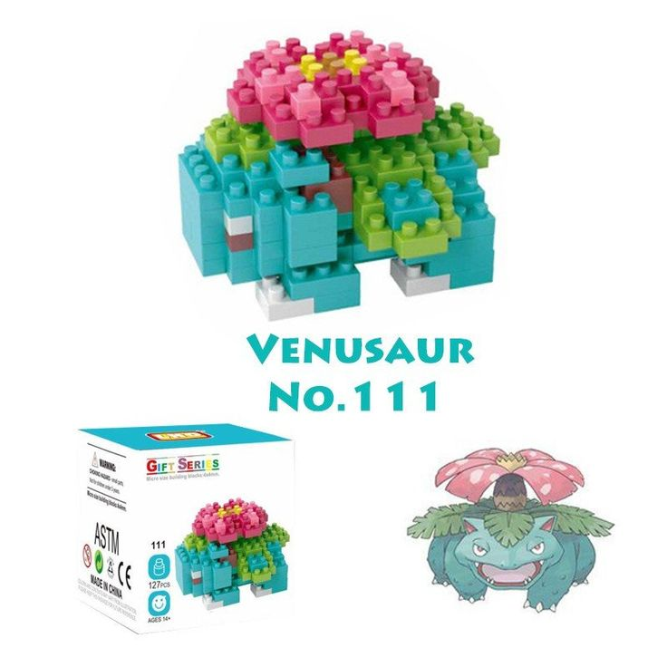 Pocket Pokemon Venusaur Figures from Building Blocks