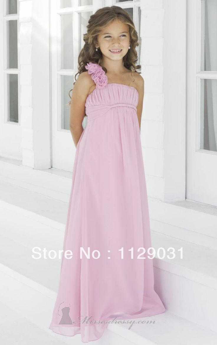 Best 25 junior bride dresses ideas on pinterest junior white empire one shoulder long pink junior bridesmaid dresses 1807007 ombrellifo Gallery