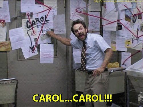It's always sunny in Philadelphia - Charlie Day - pepe Silvio / carol !!!  There's no Carol in HR!!
