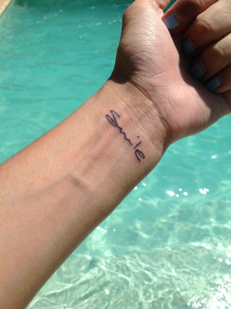 #smile #tattoo #wrist #cute