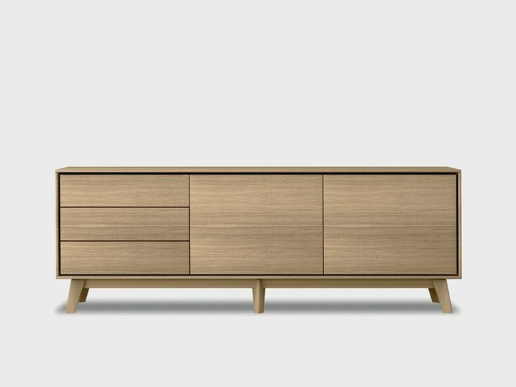 Solid wood sideboard AURA S3-3 Aura Collection by TREKU | design Angel Martí…