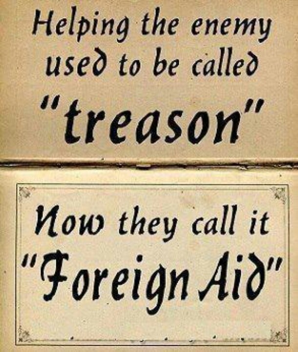 Treason vs foreign aid