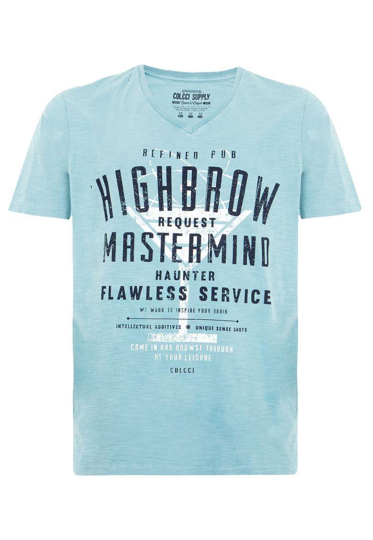 Camiseta Colcci Slim Fine Azul