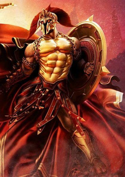 Ares, dios de la Guerra. Hijo de Zeus y Hera. Hermano de Hebe (Diosa de la juventud eterna) e Ilitia (Diosa de los alumbramientos)