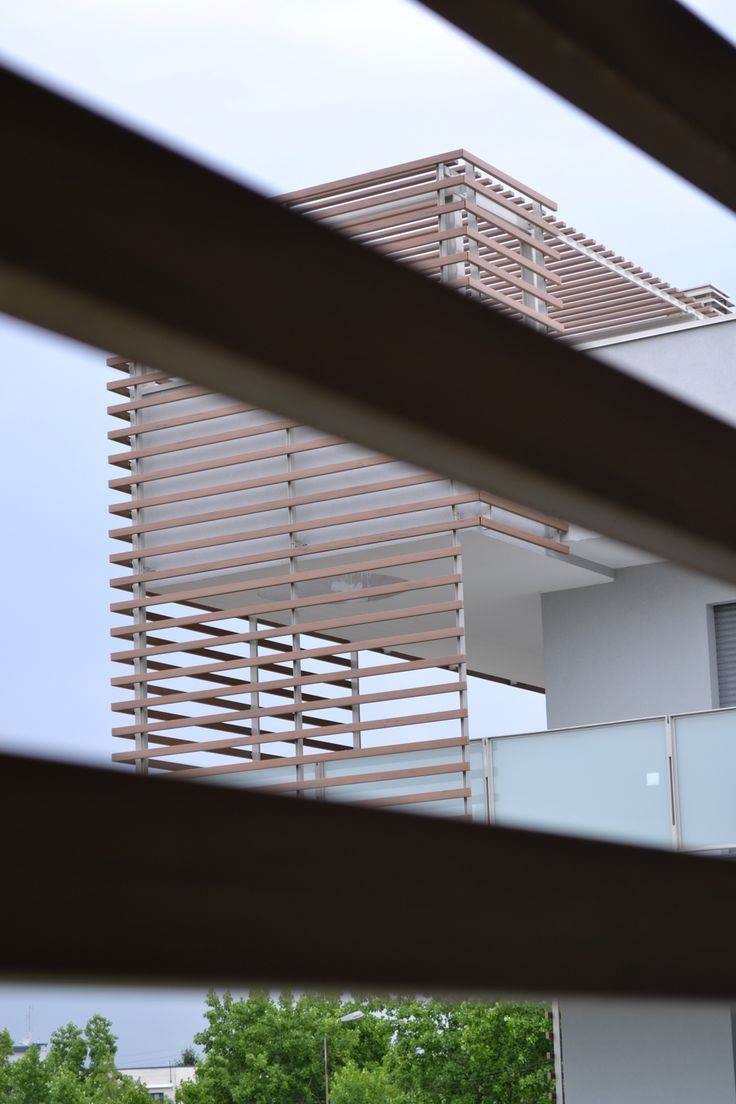 Both useful and ornamental, a strategically placed Brise Soleil can actually hide from watchful eyes as well as from sun rays, all the while allowing the air to flow freely.