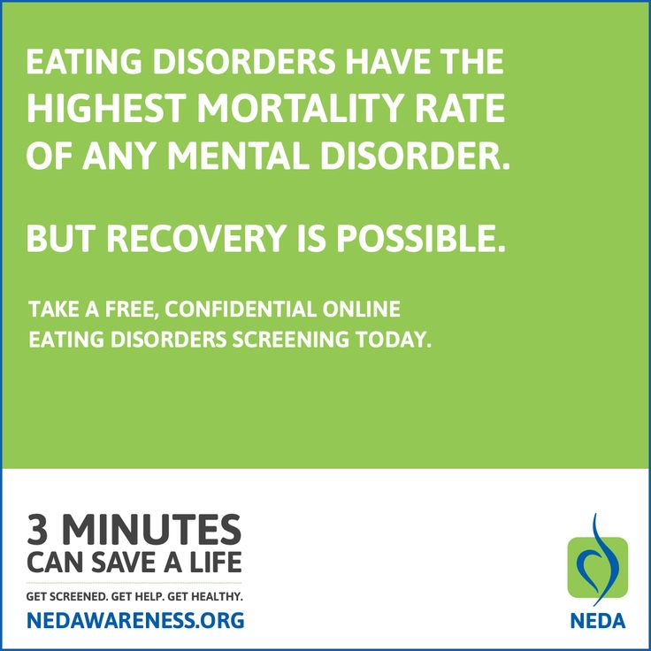 the guideline screening eating disorders