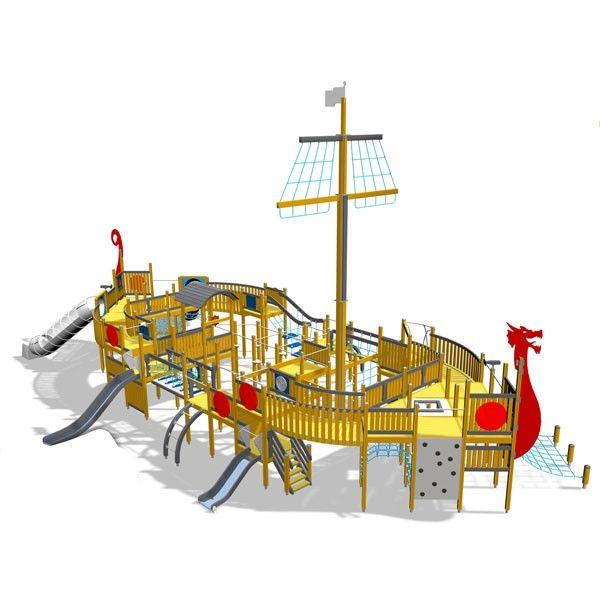 Yalp sport- en speeltoestellen | Thema toestellen | Viking schip