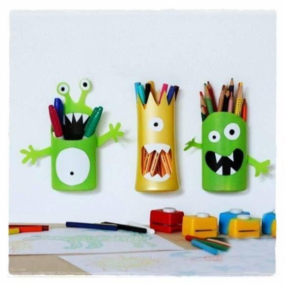 Веселые держатели для карандашей и ручек своими руками фото 1