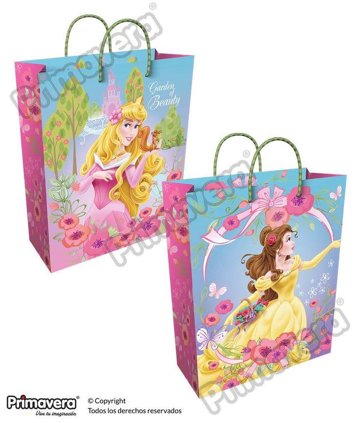 Bolsa Regalo Premium Princesas http://envoltura.papelesprimavera.com/product/bolsa-regalo-personajes-nina-premium-princesas-2/