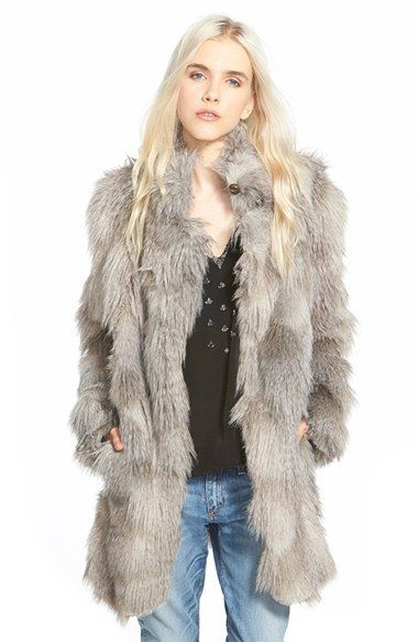 Plenty by Tracy Reese 'Cuddle' Faux Fur Coat