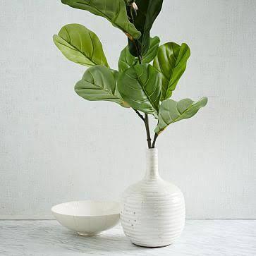 """Fiddle Leaf Fig Branch, 48"""" - Artificial Flora - Faux Plants"""