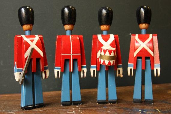 Mid Century Kay Bojesen Toy Soldiers - Set of Four