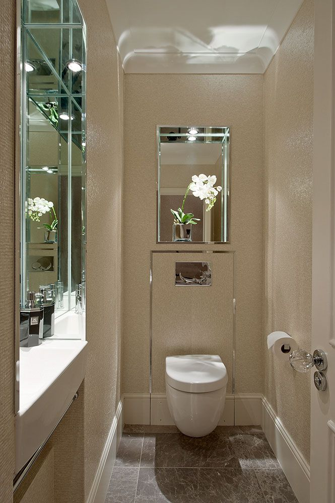 Guest WC with sink recessed into the wall  Hill House