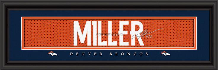 "Denver Broncos Von Miller Print - Signature 8""x24"""