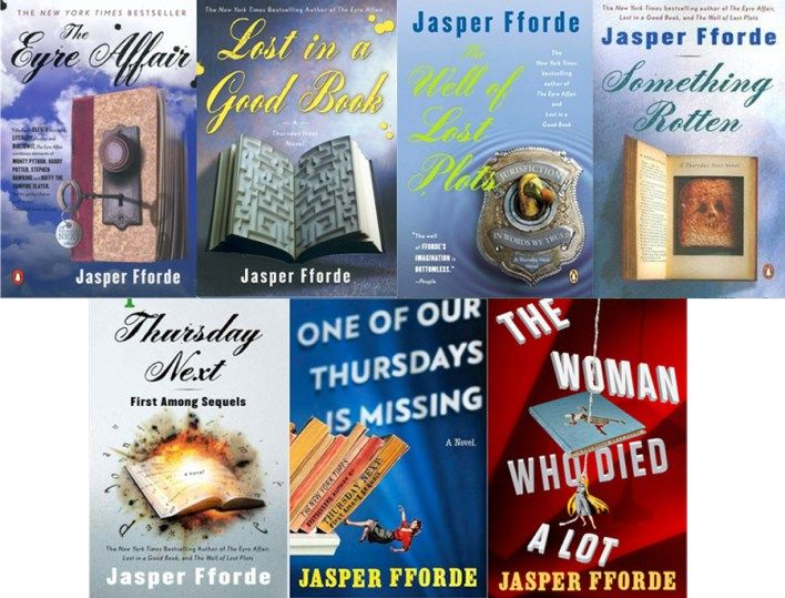 Thursday Next series by Jasper Fforde | Thursday next, Female detective,  Crime fiction