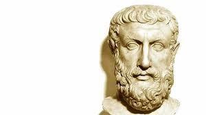 Parmênides (530-460 a.C.) é considerado o fundador da escola de pensamento de Eleia, colônia grega que ficava no litoral da região da Campânia, no sul da Itália. Para alguns estudiosos, ele teria sido discípulo do pitagórico Amínia. Outros (entre os quais Platão e Aristóteles) consideram-no um seguidor do pensamento de Xenófanes.