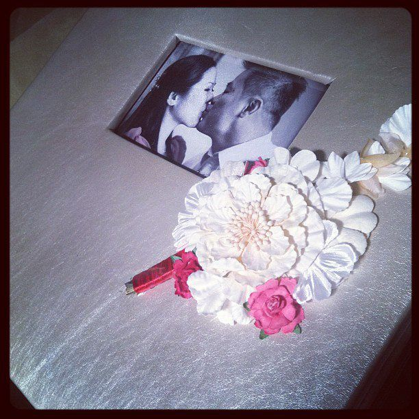 personalized wedding scrapbook/album