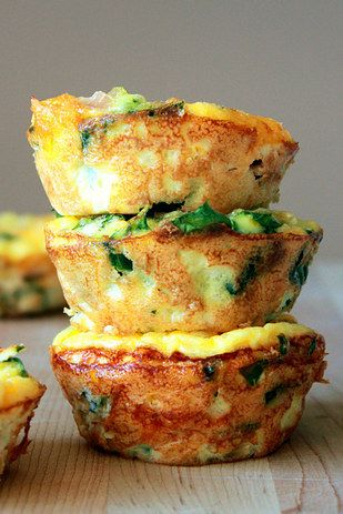 Mini frittatas = an easy and delicious way to eat vegetables in the morning