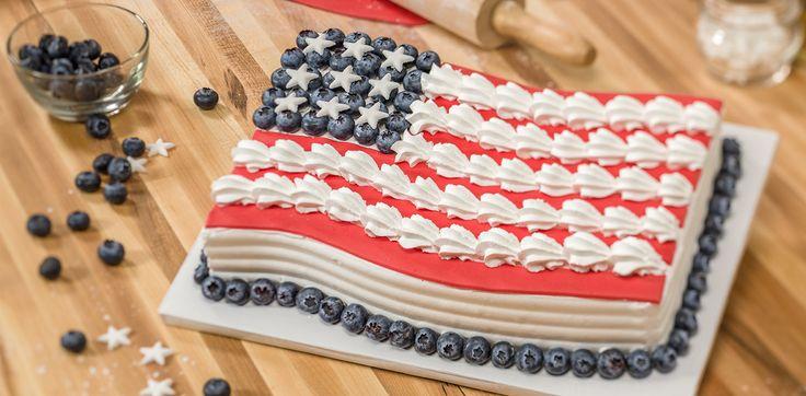 How-To Make a Patriotic Flag Cake