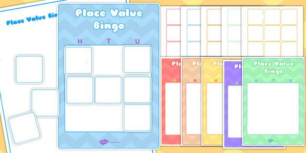 Editable Hundreds, Tens and Units Place Value Bingo Game