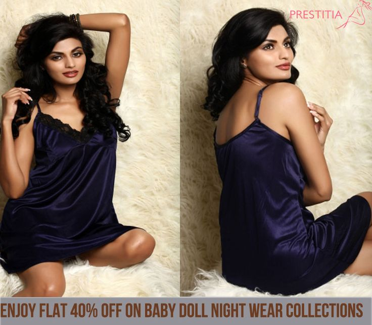 Prestitia presents exotic baby doll nightwear dress which will make you to love   yourself. http://www.prestitia.co.in/details/babydoll-in-navy-blue.html