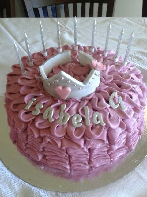 Pink Vanilla buttercream ruffle cake