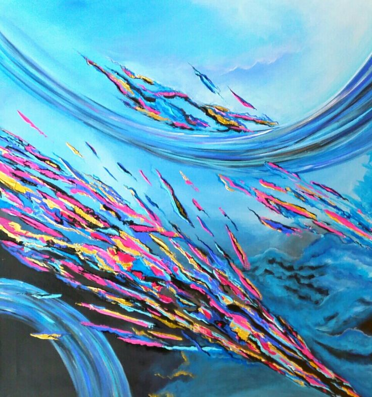 Shattered Dreams Original Textural Abstract Acrylic By EmmaJLock GBP18500